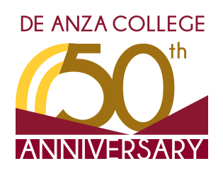 De Anza Collge 50th Anniversary Logo