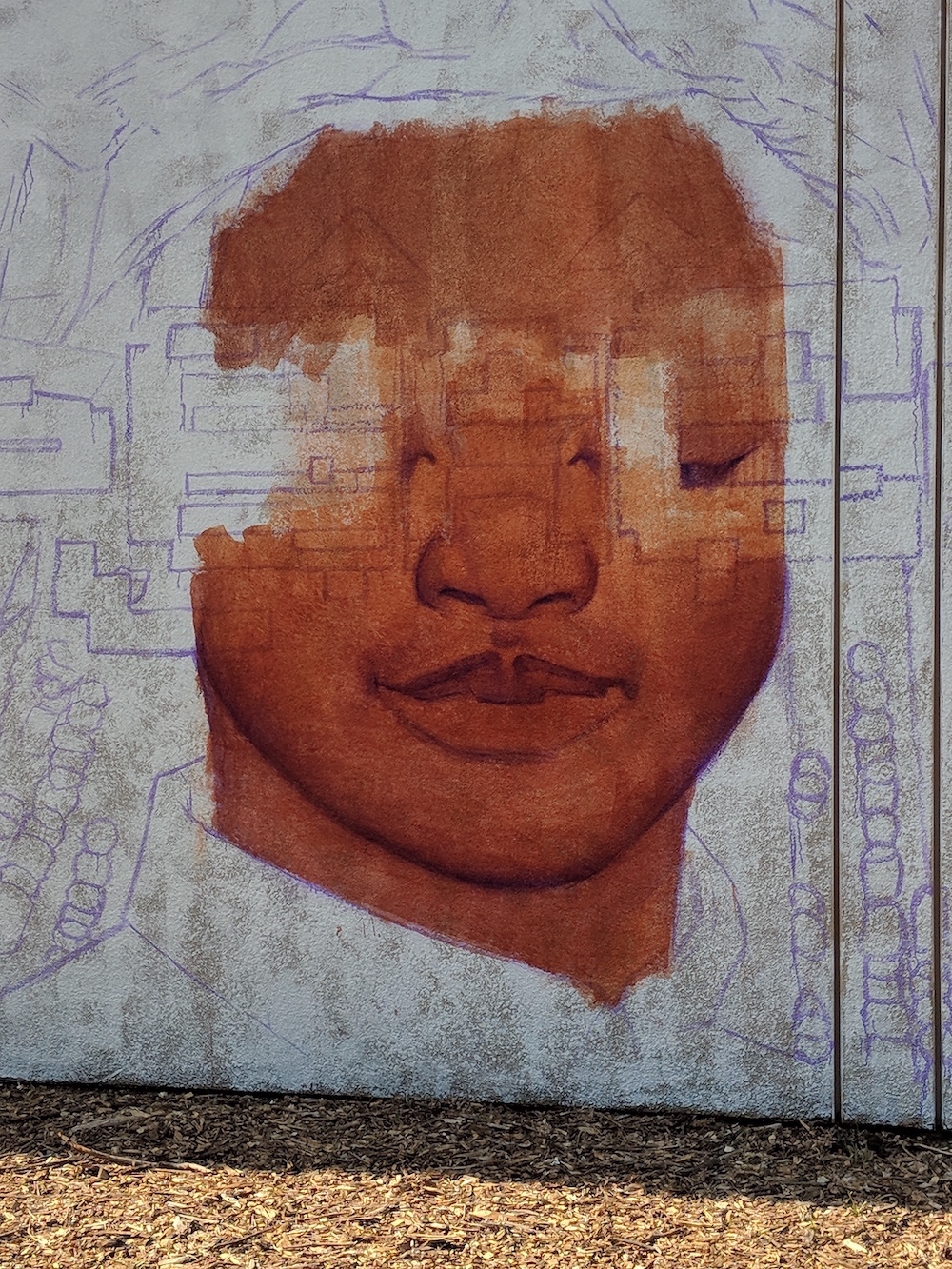 mural right face