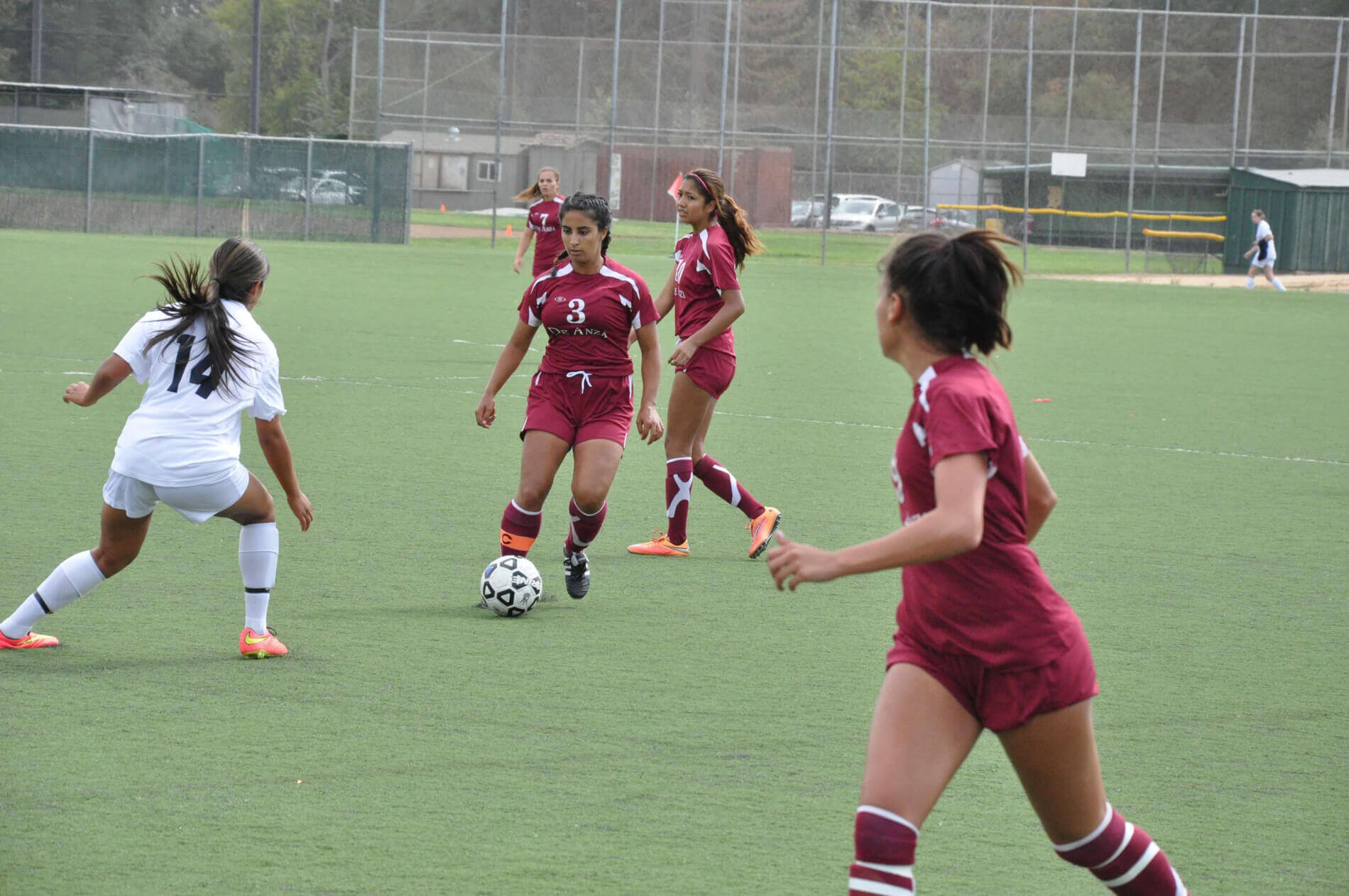 De Anza Women's Soccer player on the field
