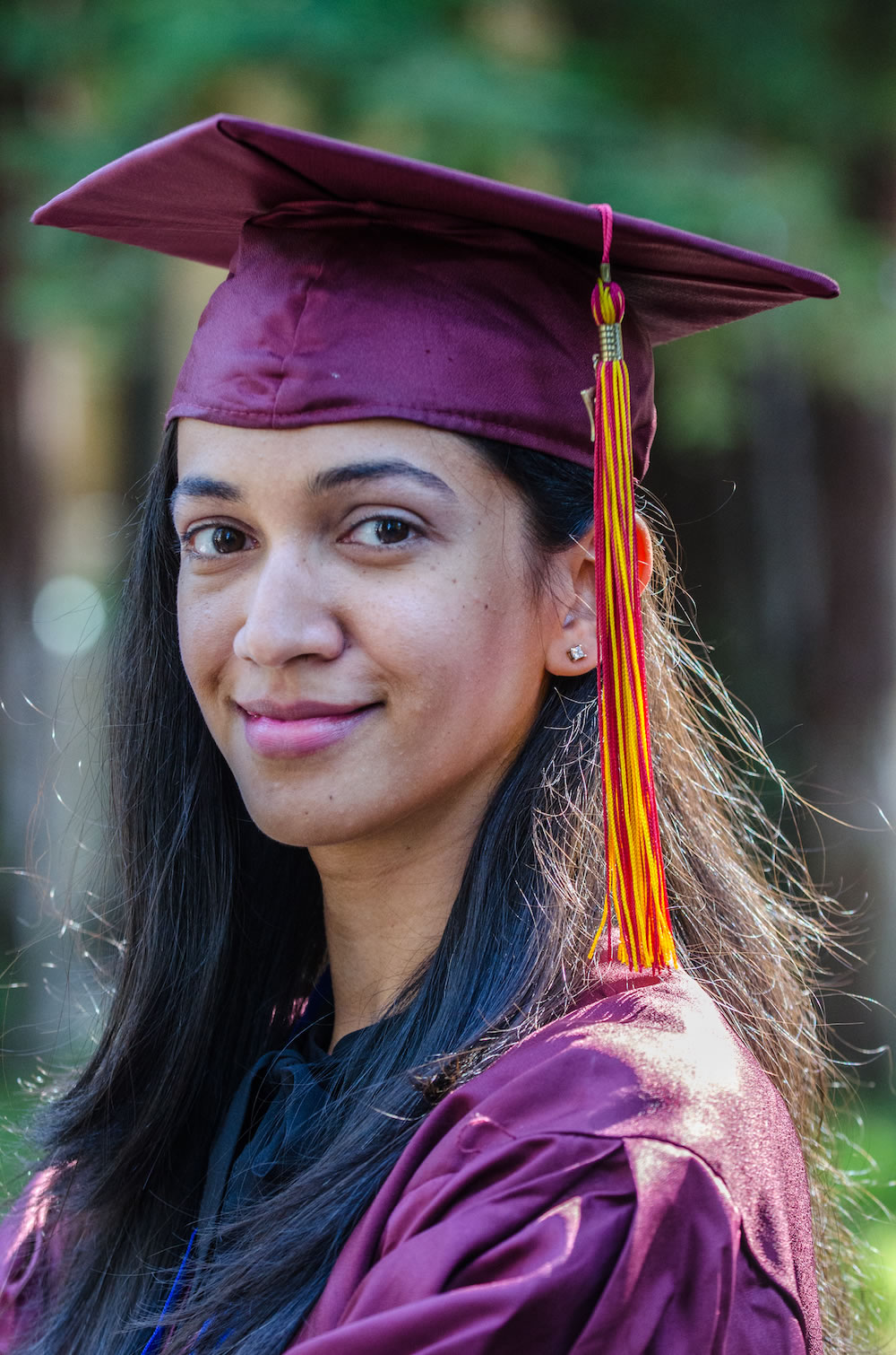 Young Woman in Graduation attire