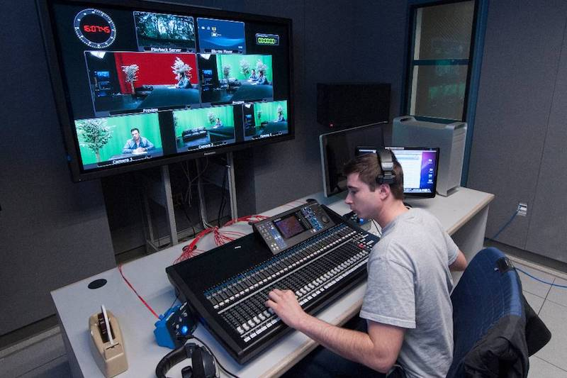 student in control room