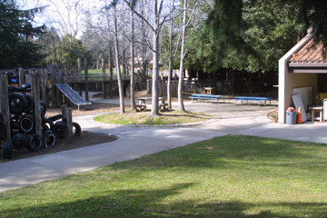 image of outside environment near Preschoolers classrooms
