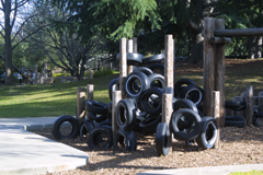 image of tires playstructure