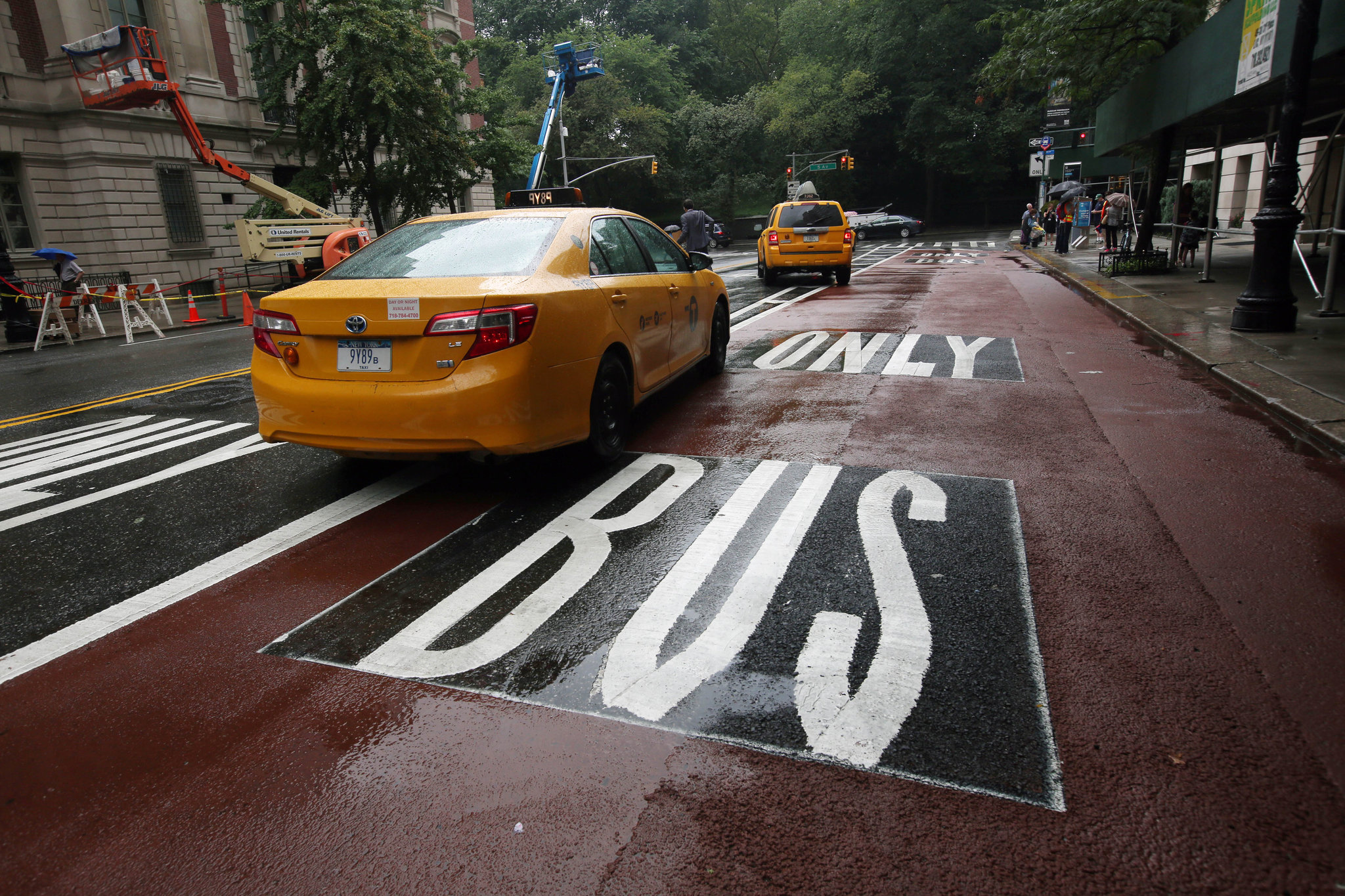Bus-only lane in New York City
