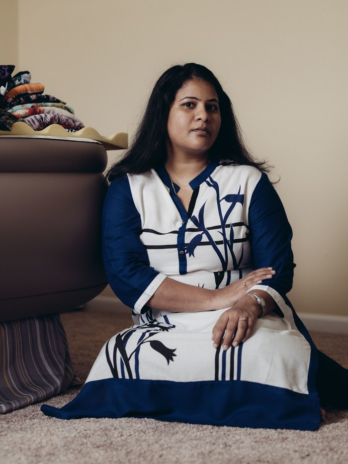 "Sunayana (""Nani"") Dumala preserves reminders of her husband in their home in Olathe, Kansas."