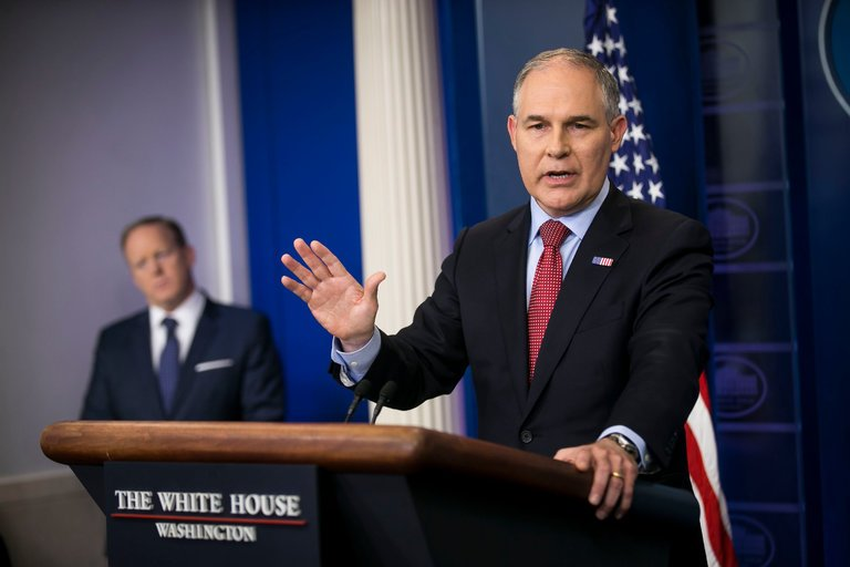 Scott Pruitt, administrator of the Environmental Protection Agency