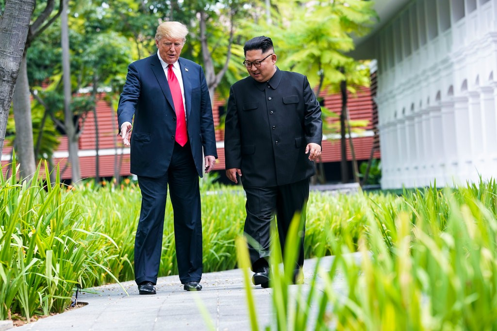 President Trump and North Korean leader Kim Jong Un