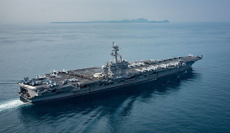 U.S.S. Carl Vinson sailing off the coast of Indonesia