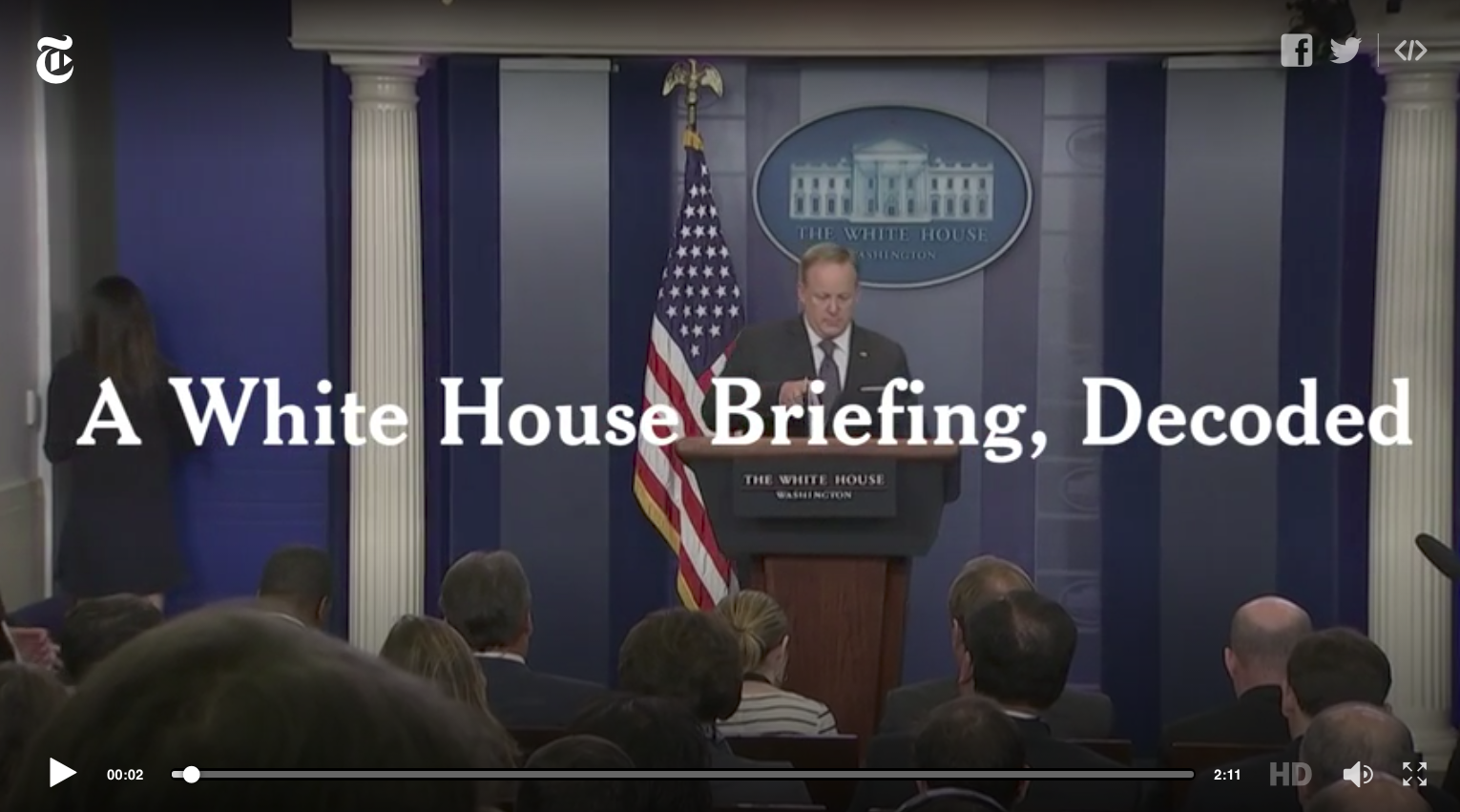 White House Press Secretary Sean Spicer at podium
