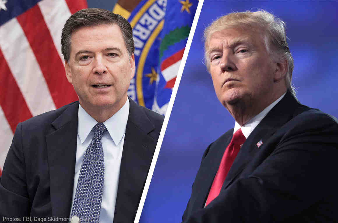 Former FBI Director James Comey, President Donald Trump