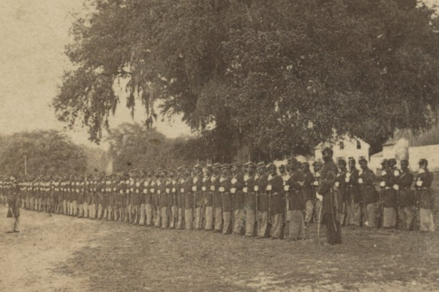 29th Regiment Connecticut Volunteers, U.S. Colored Troops in formation near Beaufort, South Carolina, 1864
