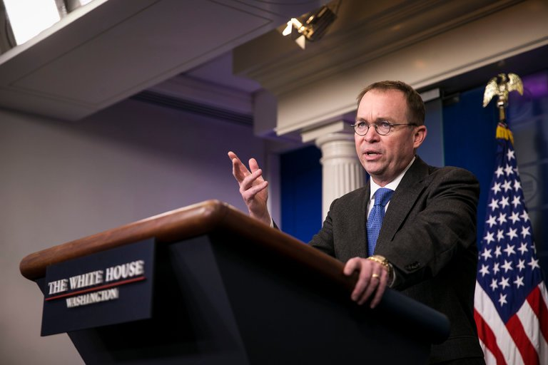 Mick Mulvaney, the White House budget director and the acting head of the Consumer Financial Protection Bureau