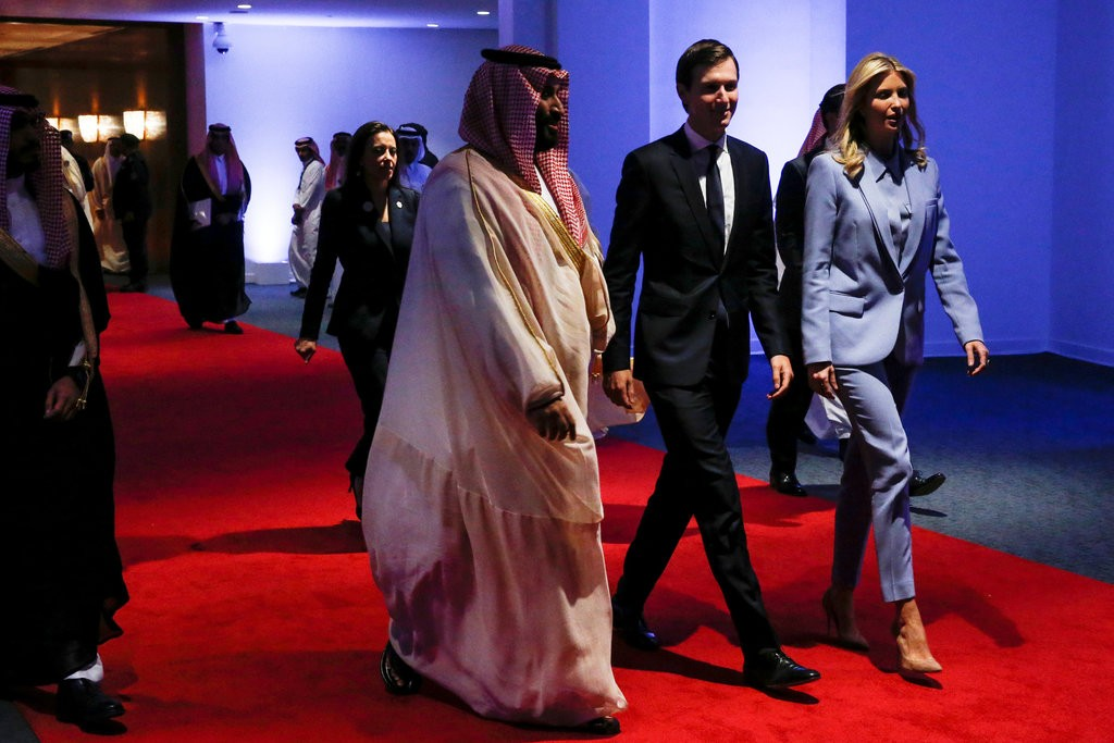 Prince Mohammed bin Salman with Jared Kushner and Ivanka Trump
