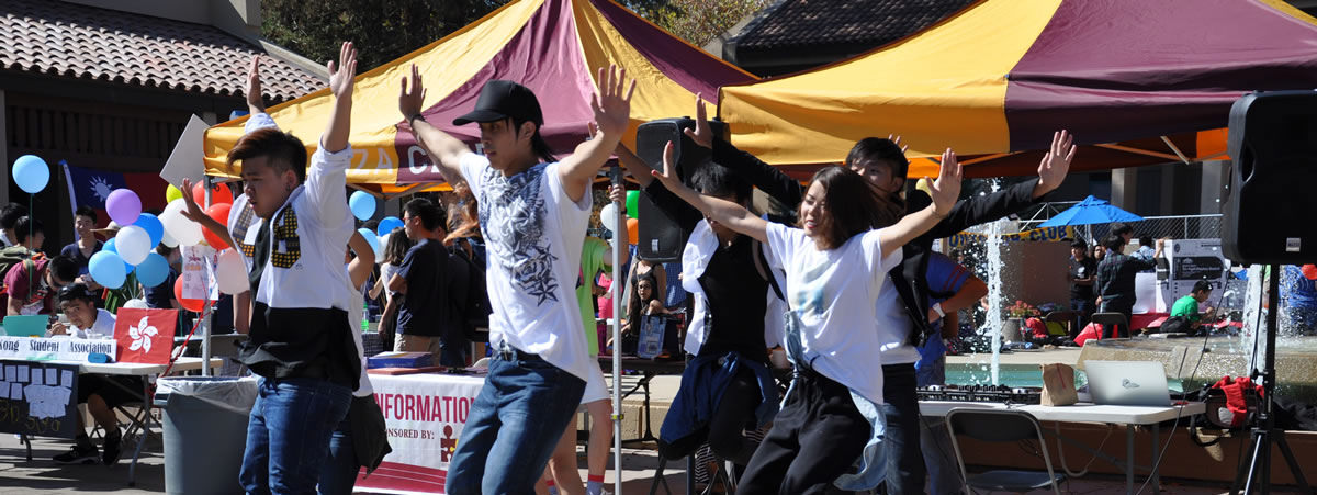 student dancing club at club day