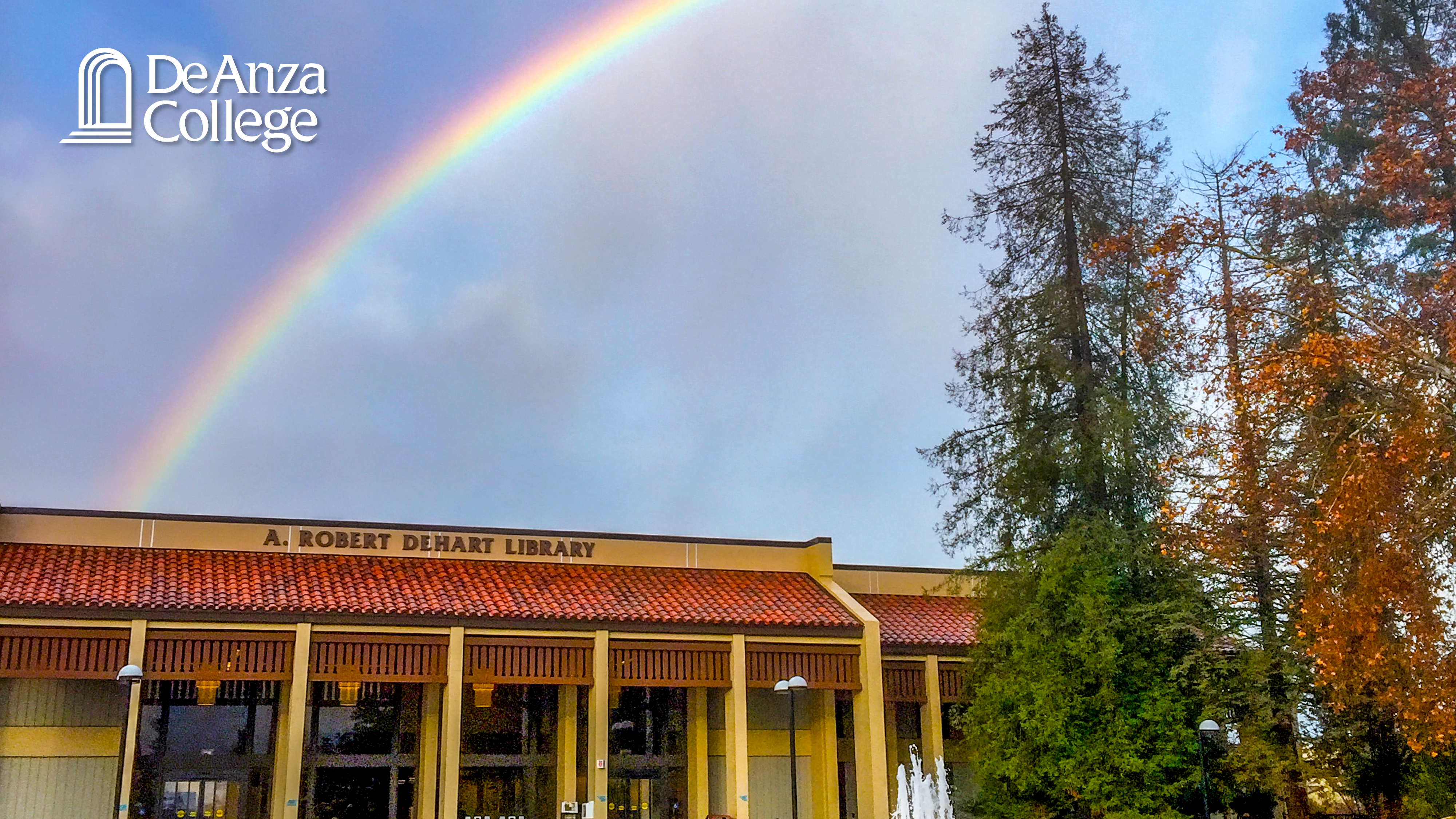 Rainbow over Library