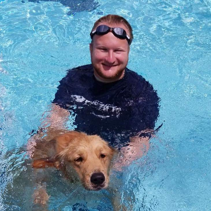 Anthony with Debbee Armstrongs Guide Dog greg salas
