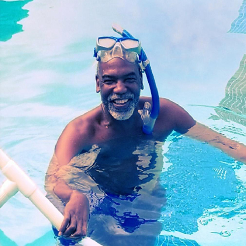 Booker T in the pool
