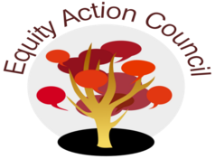 Equity Action Council logo image linked to the Equity Action Council homepage at http://deanza.edu/gov/eac/