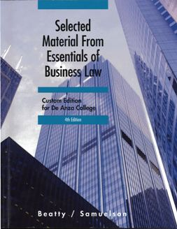 Front cover of textbook