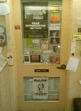 Image of faculty office door