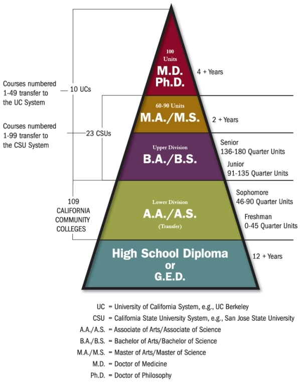 pyramid model of higher education