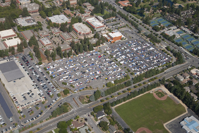 Aerial view of the July 2, 2011 DASB Flea Market