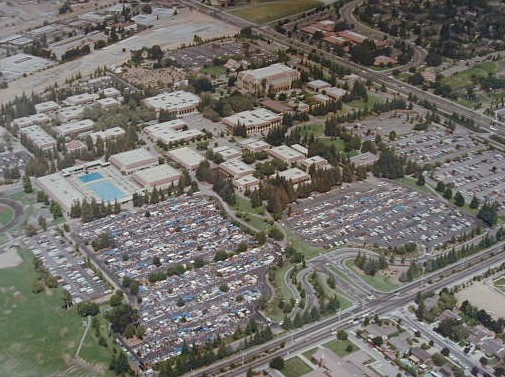 Aerial View of the DASB Flea Market from the Early 1980s