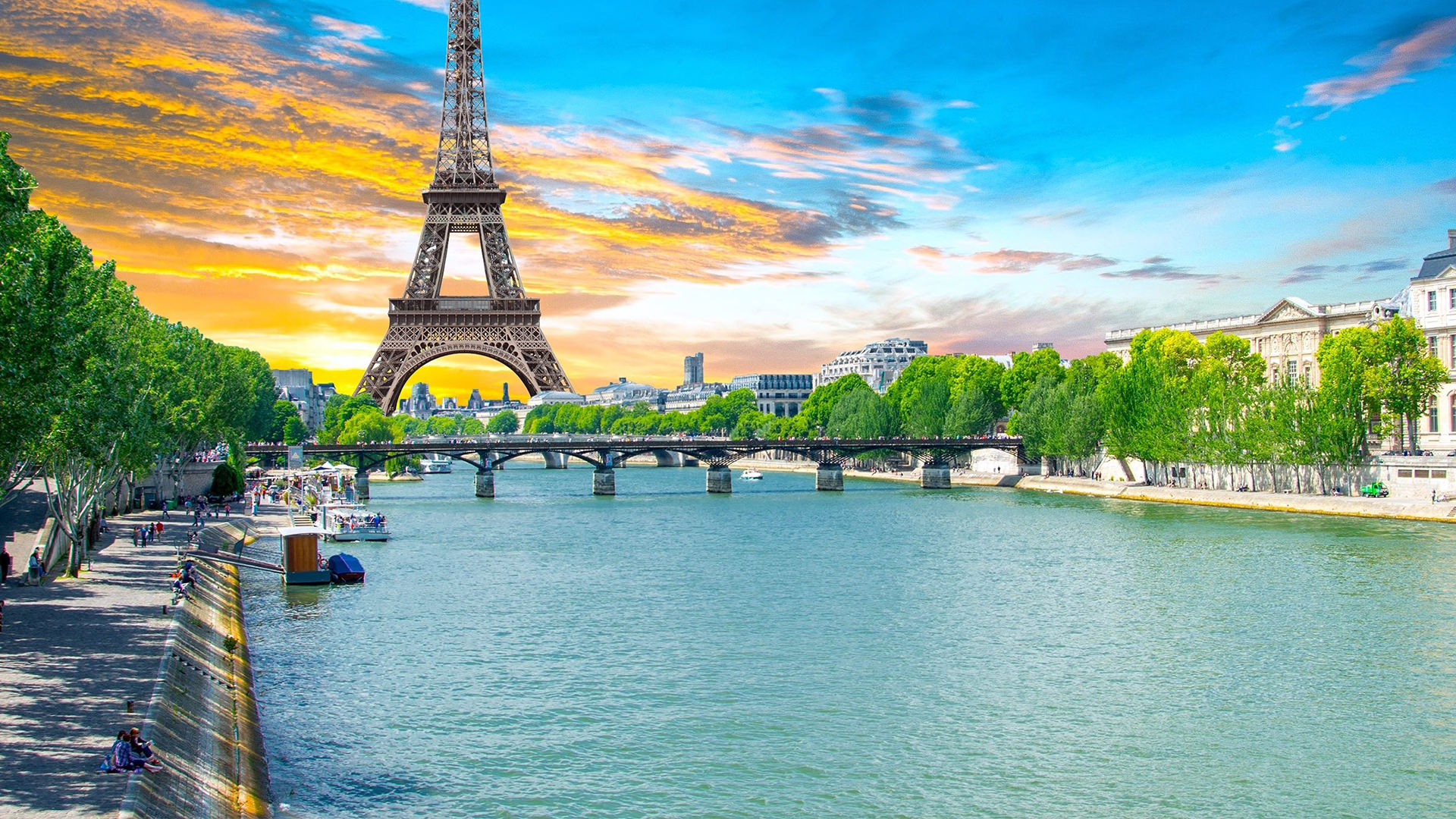 A view of the Eifle tower in Paris, France