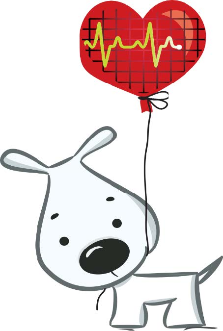 dog with balloon
