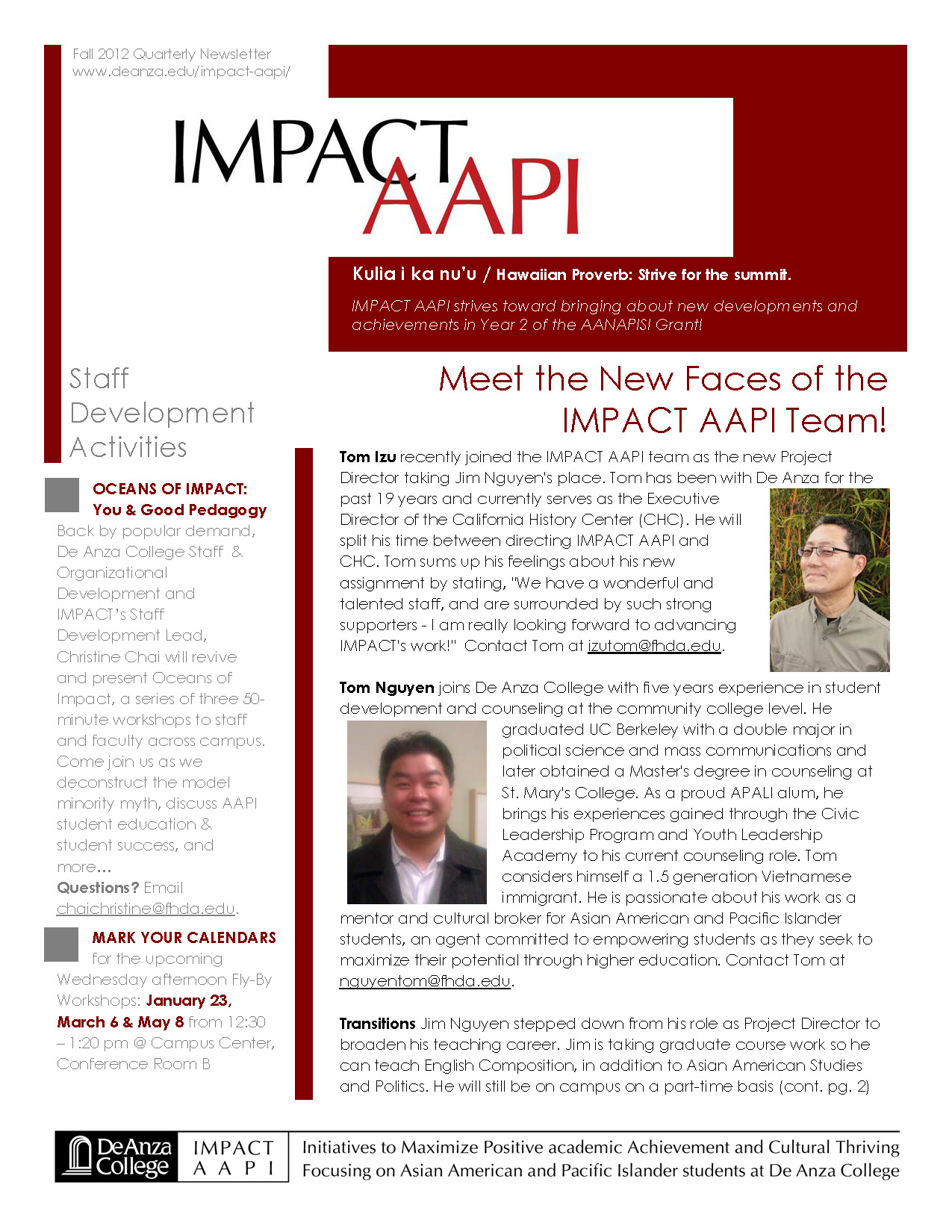 Fall '12 IMPACT AAPI Newsletter