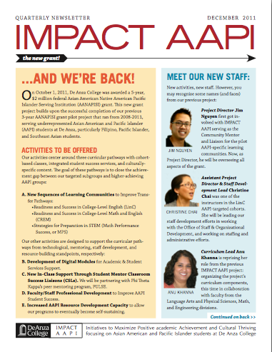 IMPACT AAPI Newsletter 2011 Winter