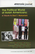 Amerasia Journal: Asian American/Pacific Islander/Transcultural Societies The Political World of Asian Americans: A Tribute to Don T. Nakanishi
