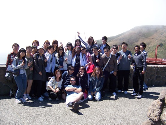 trip group at Golden Gate Bridge