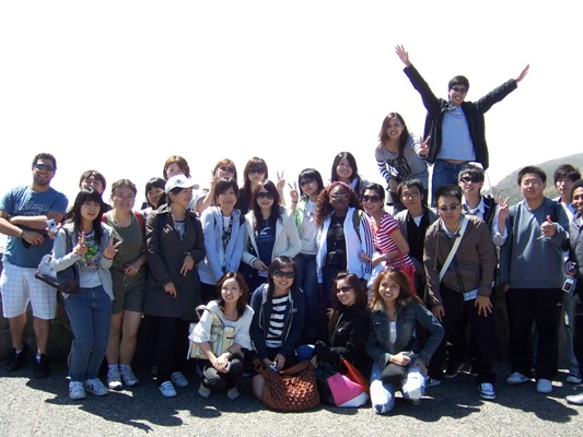 group at Golden Gate Bridge