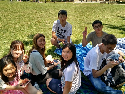 students at the summer picnic