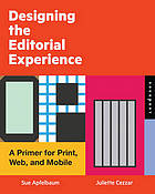 designing the editorial experience book cover