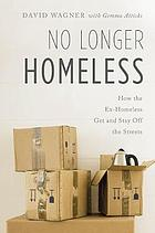 image of book cover for No Longer Homeless