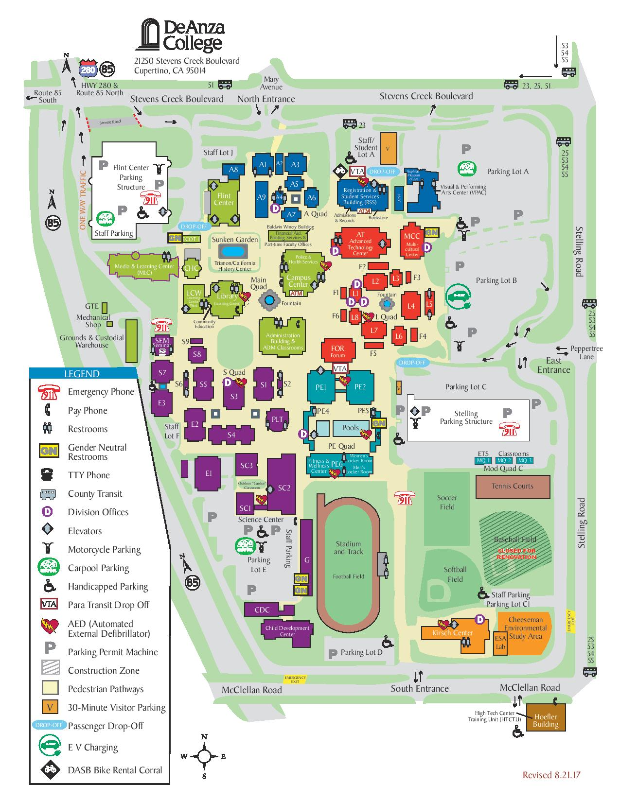 De Anza Campus Map