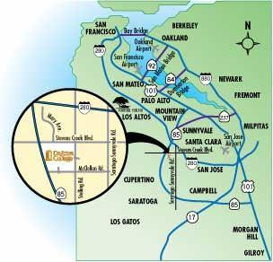 De Anza College :: Campus Map :: Directions De Anza Campus Map on