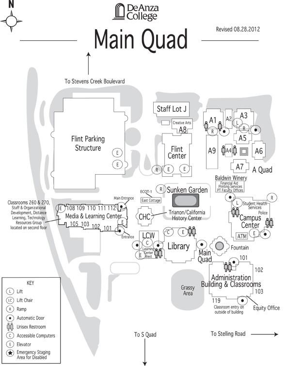 Main Quad map