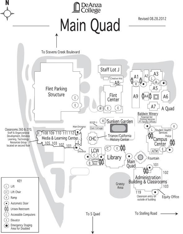 Stevens Point Campus Map.Main Quad