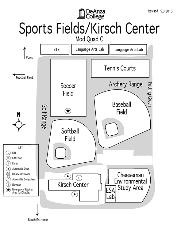 Sports Fields Kirsch map