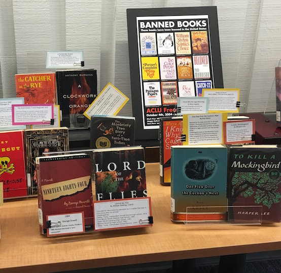 The De Anza Library has put together a special exhibit of banned books to highlight the historic conflict between freedom and censorship of controversial stories or opinions.