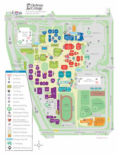 de anza college campus map New Location For Various Services de anza college campus map