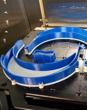 plastic headbands for face shields produced by 3D printing