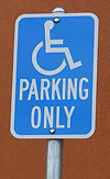 DMV Handicap Parking Sign