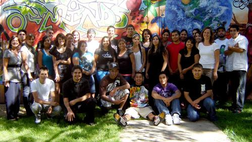 Group portrait of Puente class 2008