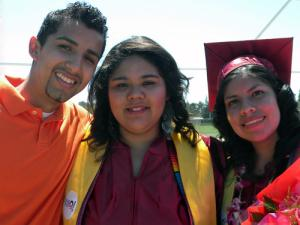 Three Puente students at 2010 graduation