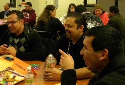 student and mentors at career night 2011