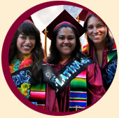 Three female Latina graduates